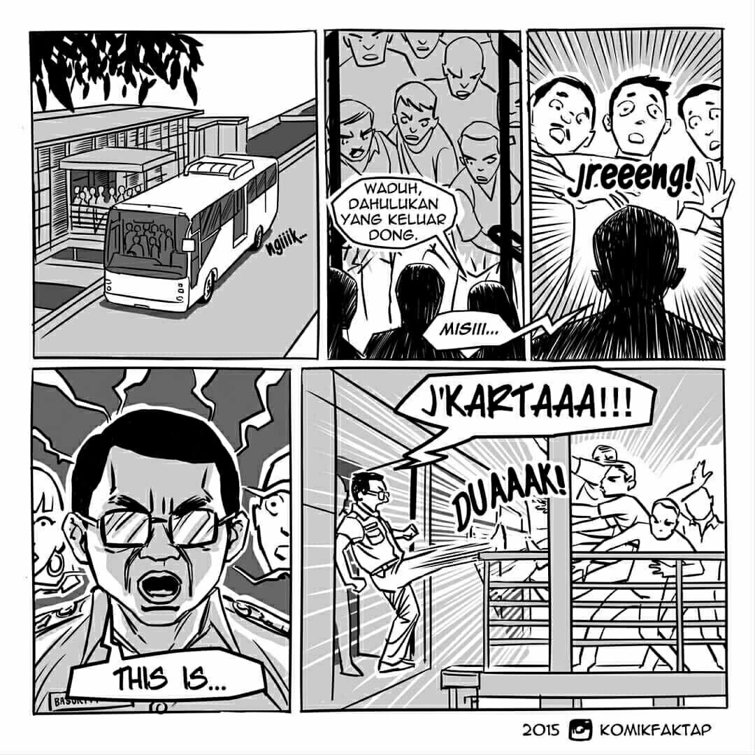 Komik Strip Ahok Busway Books Movies Words A Place To